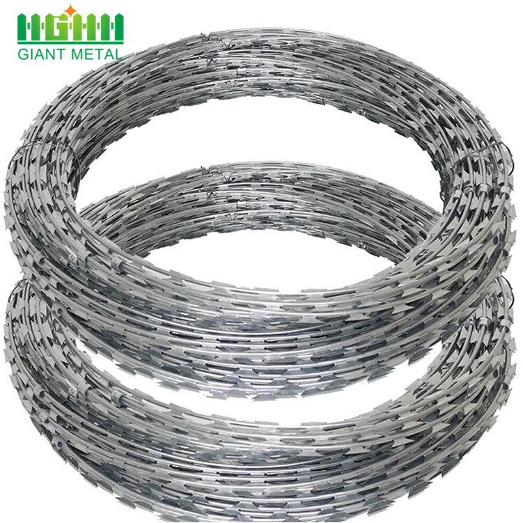 Hot  Dipped Galvanized Razor Concertina Barbed Wire