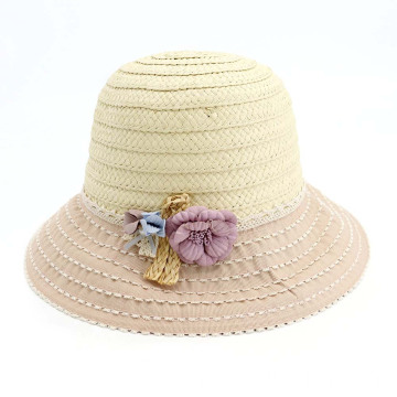 Floppy wide brim fishing outing bucket straw hat