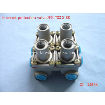 Four circuit protection valves