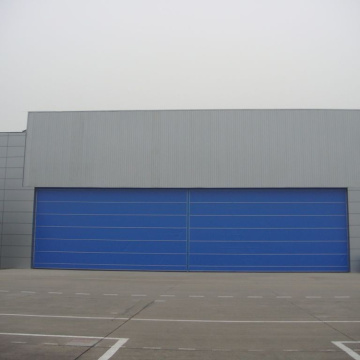 Fast action high speed rolling up hangar door
