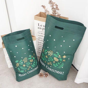 Die Cut Green Shopper Tote Bags