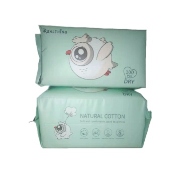 100% Cotton Biodegradable Organic Baby Dry Wipes