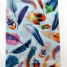 45s Feather Design Semi Digital Rayon Fabric