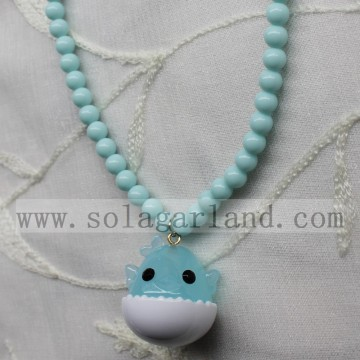 Acrylic Opaque Chunky Beads Bubblegum Necklace For Baby