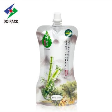 260ml bamboo juice stand up pouch with spout