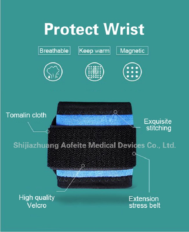 Tourmaline medical heated wrist wraps lifting support