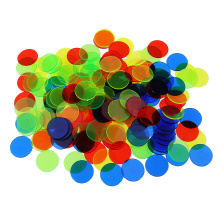 100pcs Plastic Bingo Chips Circle Board Game Accessories Tokens Coins Party Club Family Games Supplies, 5 Color to Choose