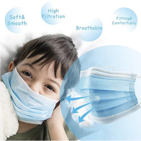 Kids Medical Disposable Face Masks 3-Layer
