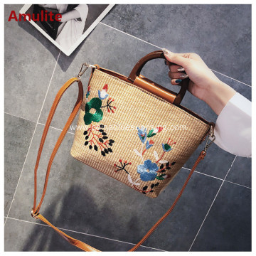 Cheap fashion leisure hangbag straw bag