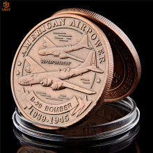 Nice US Air Force Military Weapons SUPERFORTRESS B-29 BOMBER Copper Commemorative Coins Collectibles And Gifts