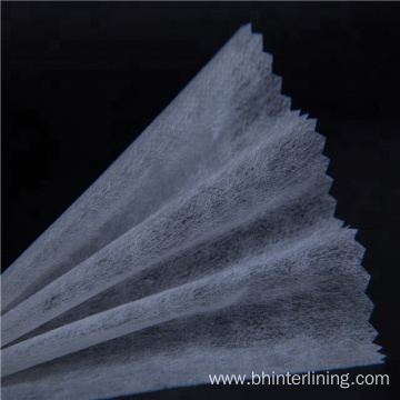 Smooth Elastic Nylon non woven fusible interlining fabric