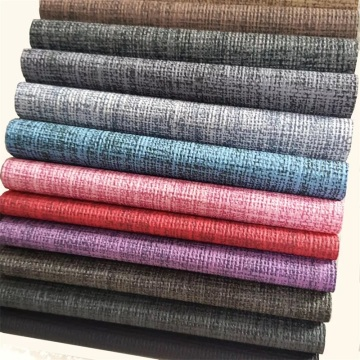 Colorful Textured PU Linen Embossed Leather for Mat