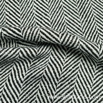 Woolen poly herringbone design fabric