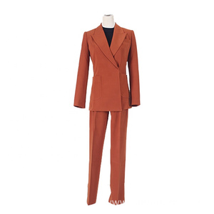 Sexy Orange Ladies Business Suits Sets for Working