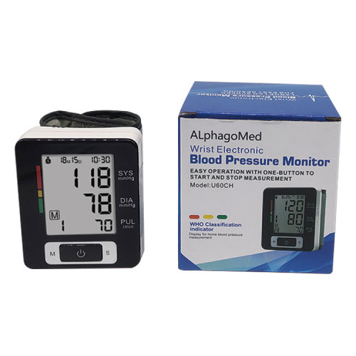 Wrist Type Manual Sphygmomanometer Blood Pressure Monitor