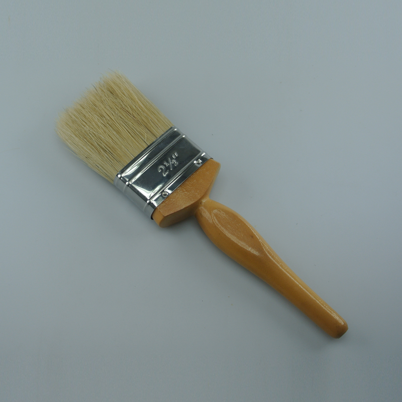 wooden bristle paint brushes