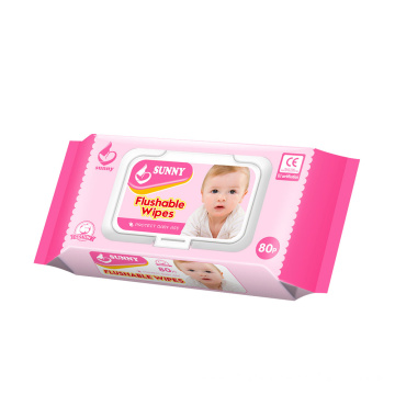 Cotton Soft Disposable Custom Wet Unscented Baby Wipes