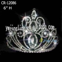 "6 "" Fashion Crystal Pageant Tiaras"