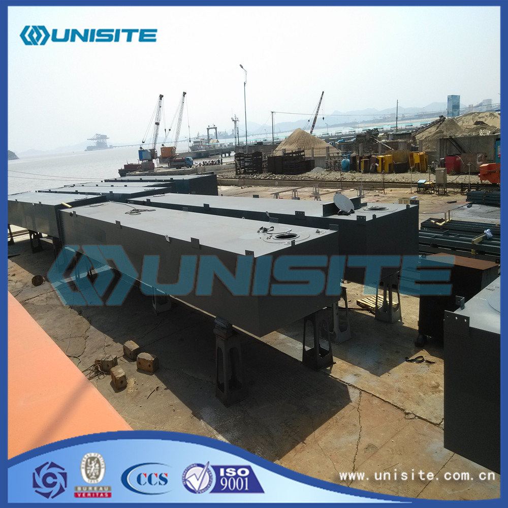 Steel floating platform for dredging
