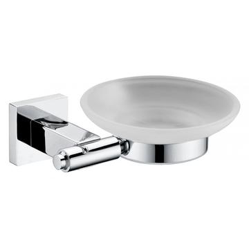 Chrome Platted Single Bathroom Soap Dish Holder