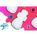 Extra long cotton sanitary napkins for night use