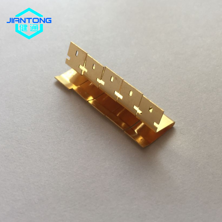 custom stainless spring steel stamping gold plated contact