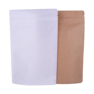 Paper Laminated Compostable Biodegradable Bag with Window and Zipper