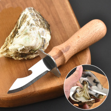 stainless steel wooden handle Oyster open Oyster Knife Bottle opener Seafood opener tool Kitchen tools