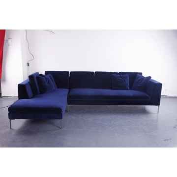 B&B italia Charles sofa in velvet fabric