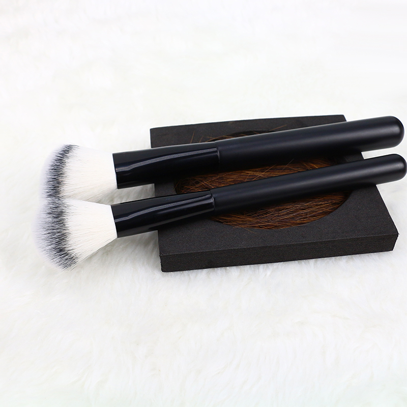 black wood handle makeup brush