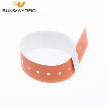 L shape Paper material one time-using nfc wristbands