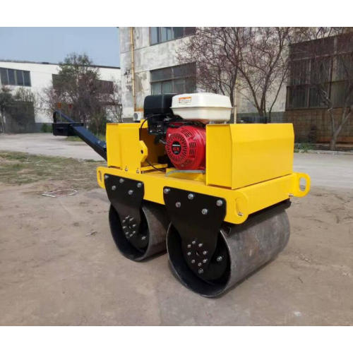 Hand push double drum vibratory road roller