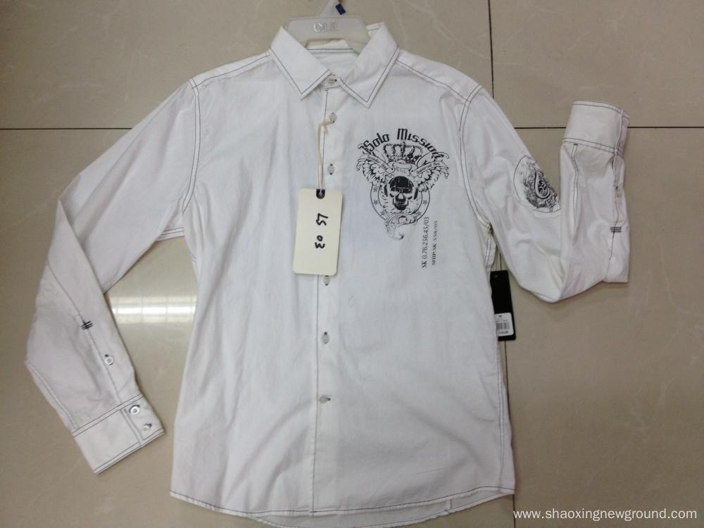 White cotton shirts men's shirts
