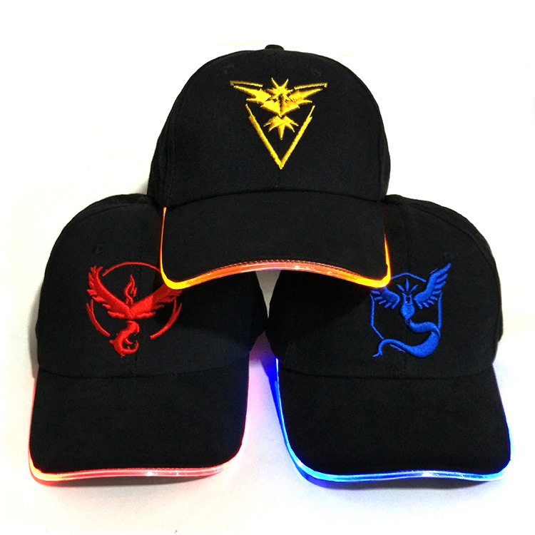 LED fiber optic cap luminous cap baseball cap