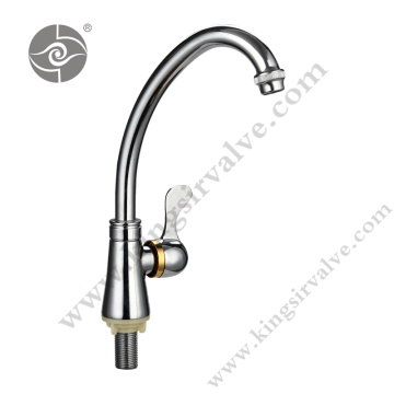 Chrome plated and polished faucets