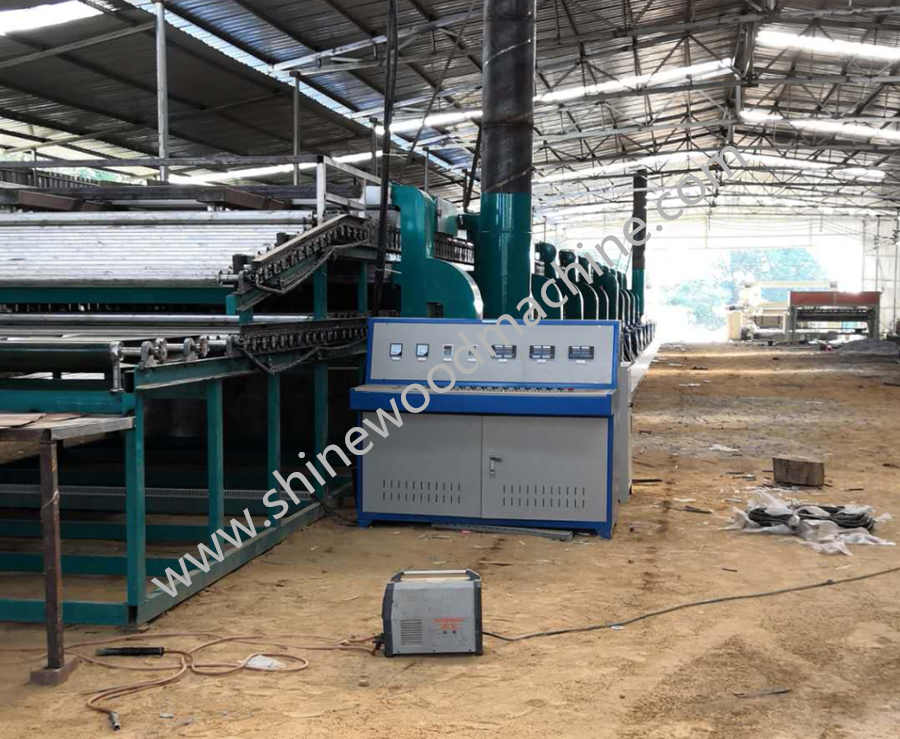 Veneer plywood dryer