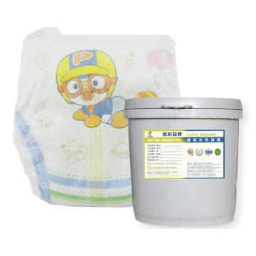 Breathable paper diaper waterborne ink