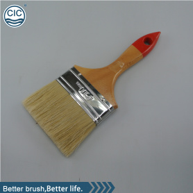 Cleaning and painting wall paint brush