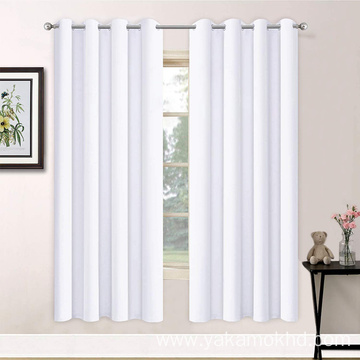 Pure White Blackout Curtains 72 Inch Long