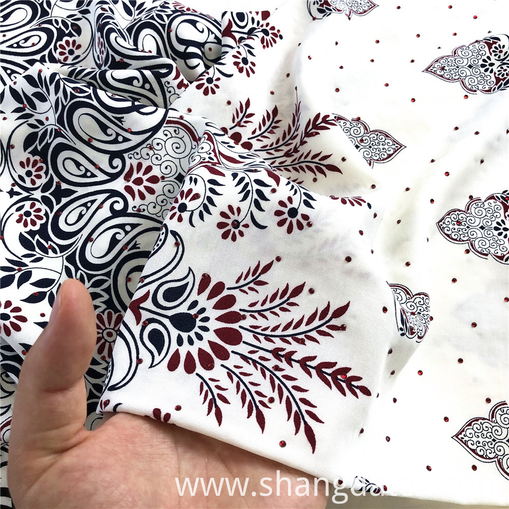 Rayon 45s Printed Ethnic Design With Stone