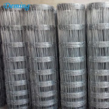 Galvanized Hinge Joint Fixed Knot Field Fence For Sale