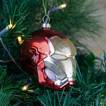 Iron Man Head Shaped Cool Customized Weihnachtsglas-Ornamente
