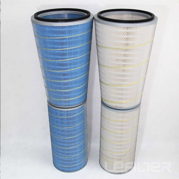 Carbon steel skeleton air filter cartridge