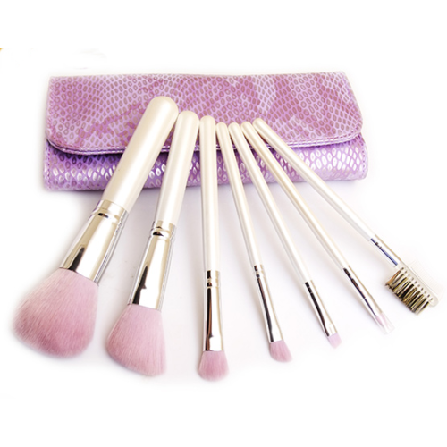 7PC Cosmetic Brush Set with Pocuh
