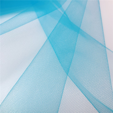 Nylon American Blue Tulle Mesh Fabric for Garments
