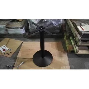 Restaurant black dining table base with adjustable legs