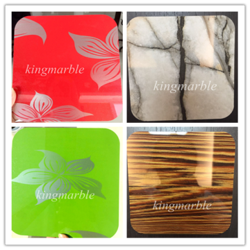 Formaldehyde free uv coating interior wall panel
