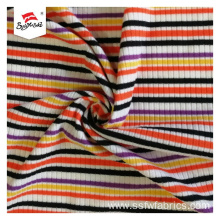 Rib Knit Fabric With Good Extensibility Curling Edge
