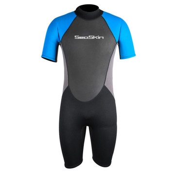 Seaskin 3mm Shorty Freediving Rear Zip Wetsuits