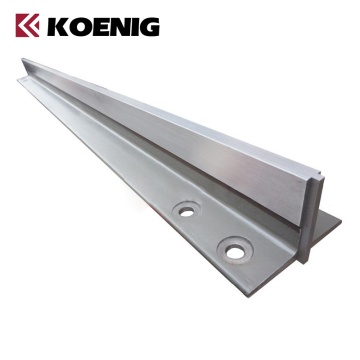 Machined elevator accessories of guide rail